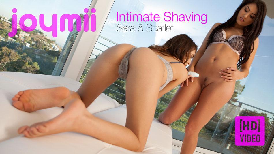 Sara L & Scarlet B - Intimate Shaving